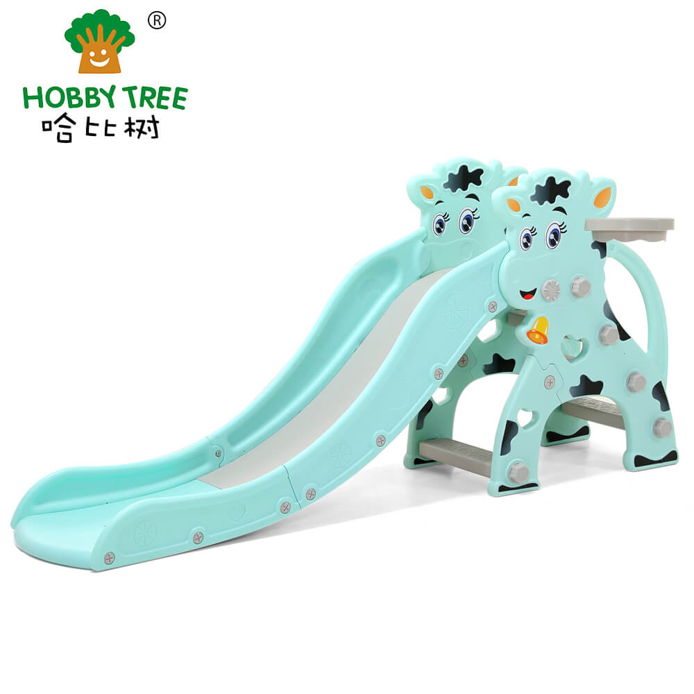 Calf theme indoor plastic kids slide WM19022