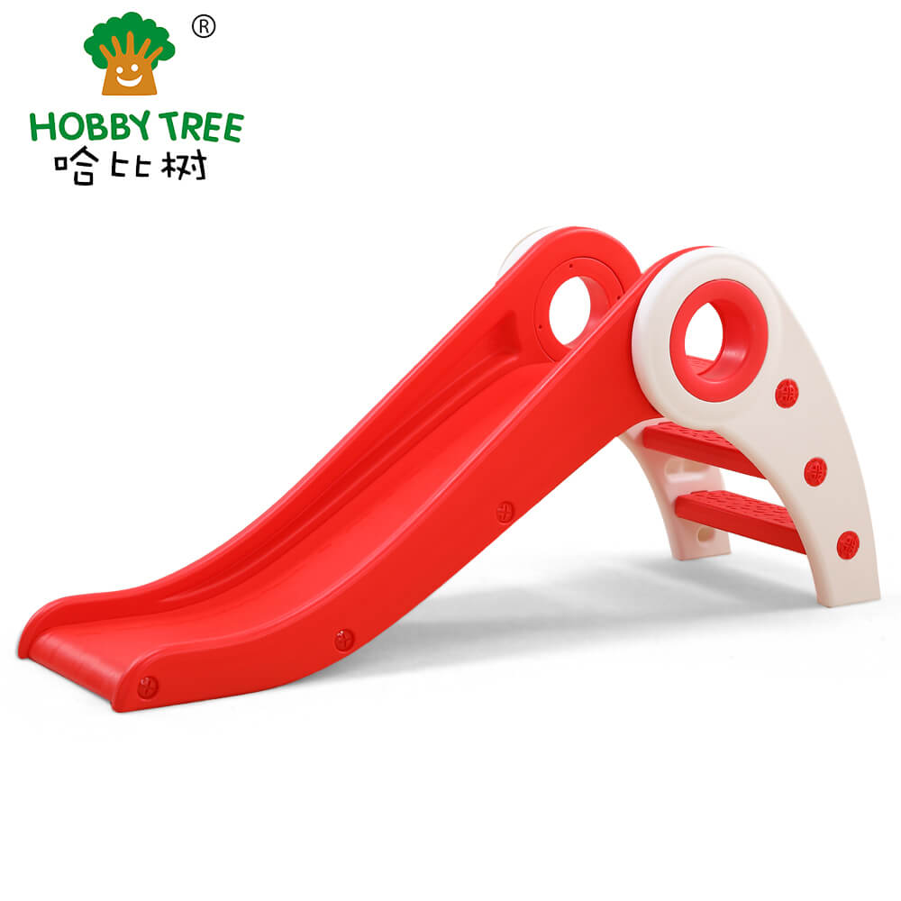 Hobby tree indoor plastic folding small slide for kid WM19025