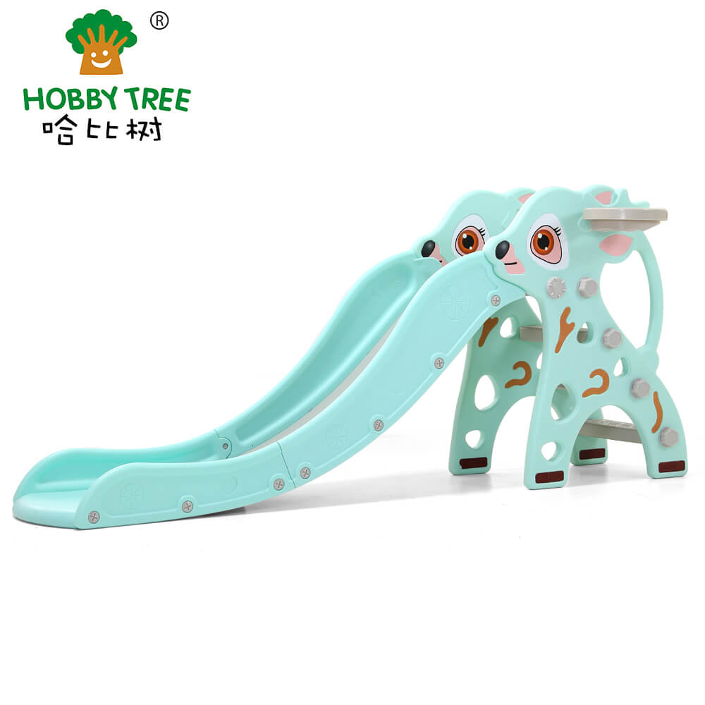 Fawn theme indoor plastic kids slide WM19021