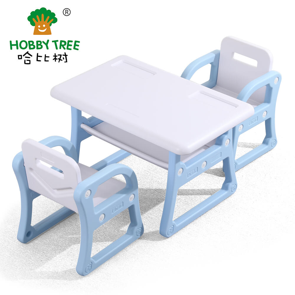 kids indoor plastic table and chair set  WM19039