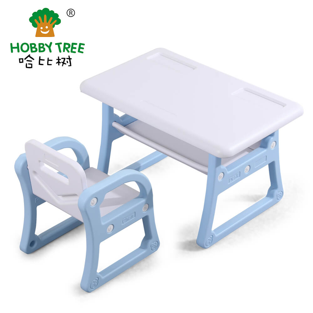 kids indoor plastic table and chair set WM19040