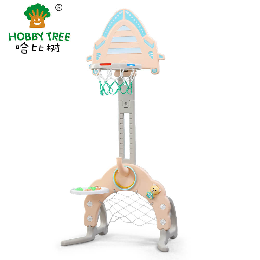 Rocket Theme indoor plastic kids basketball set with good mini hoop system WM19042